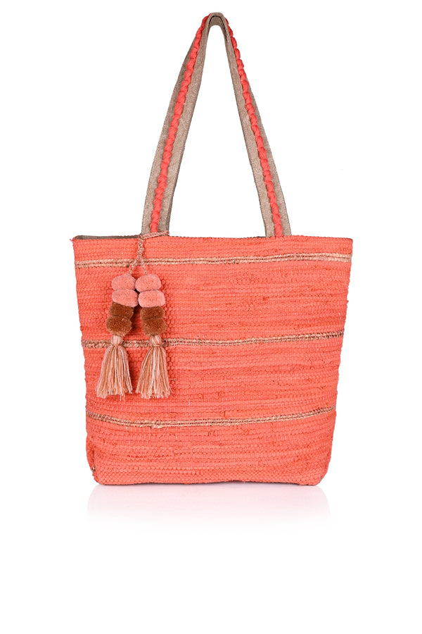 Burnt Sienna Handwoven Tote