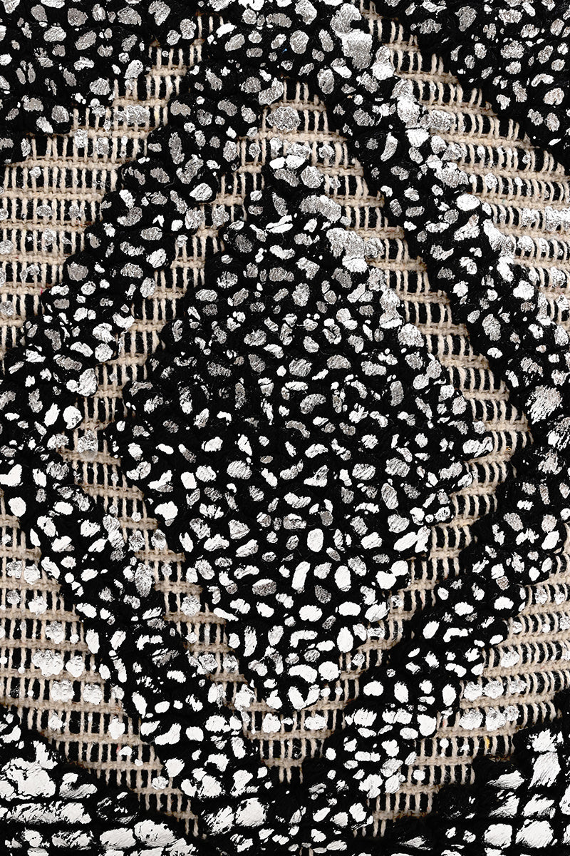 Silver Foil Tufted Tote