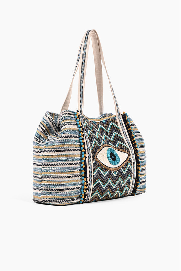 Grecian Nights Evil Eye Tote