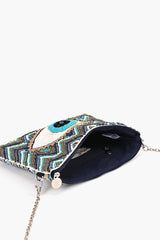 Grecian Nights Evil Eye Clutch