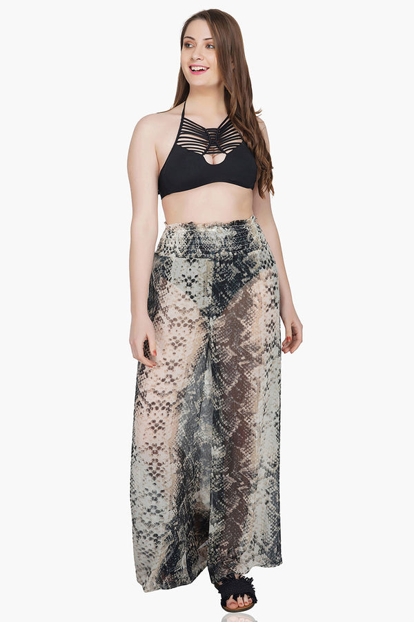 Sizzling Silver Snake Beach Pants