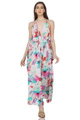 Amethyst Bloom Halter Dress