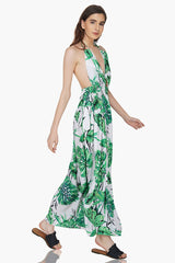 Ivory Hawaiian Halter Dress