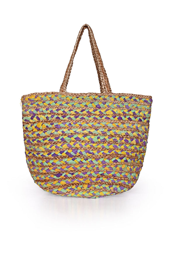 Cotton Jute Beach Bag