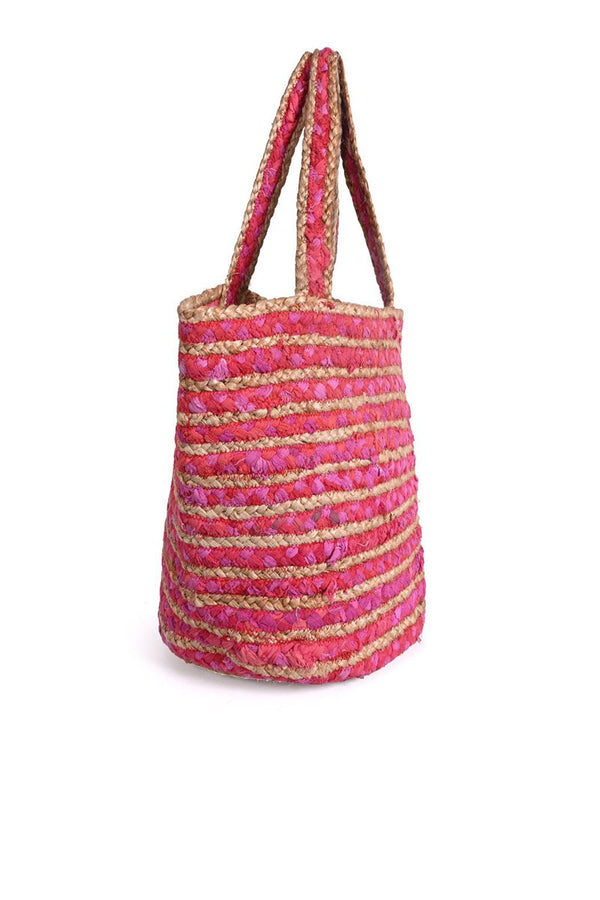 Fuschia Bucket Bag with Tassle