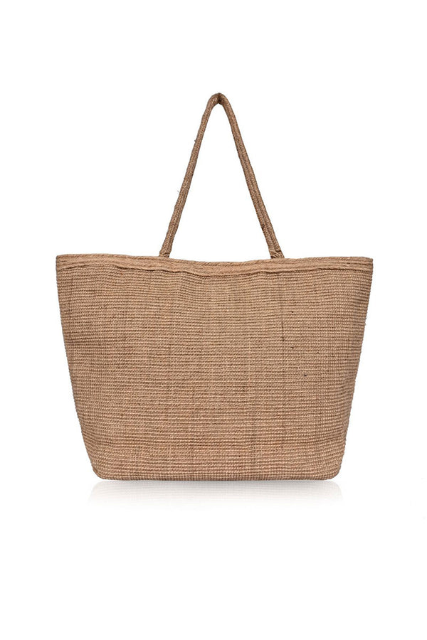 Palm Leaf Jute Tote Bag With Tassle