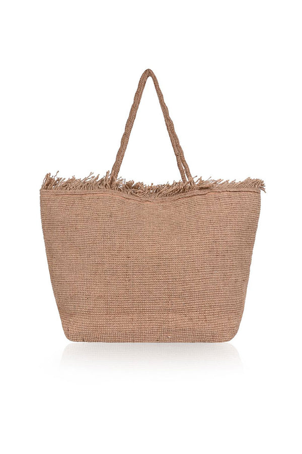 Flamingo Jute bucket bag