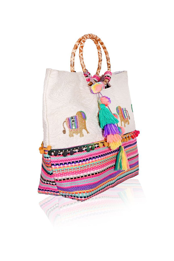 Lucky Elephant Beach Bag