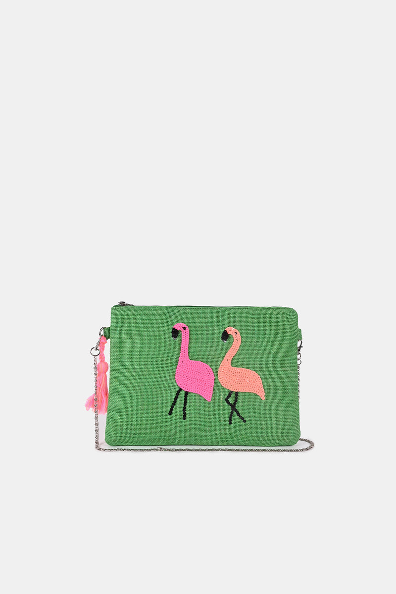 Jelly Bean Flamingo Clutch