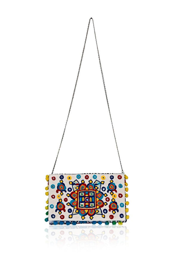 Indo Tribal Mirrorwork Clutch