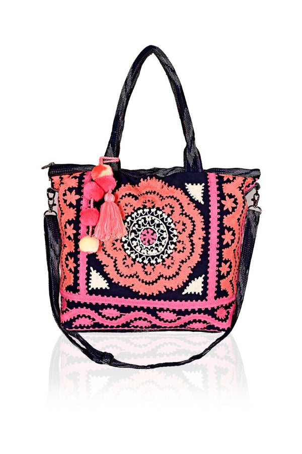 Night Shade Embroidered Tote