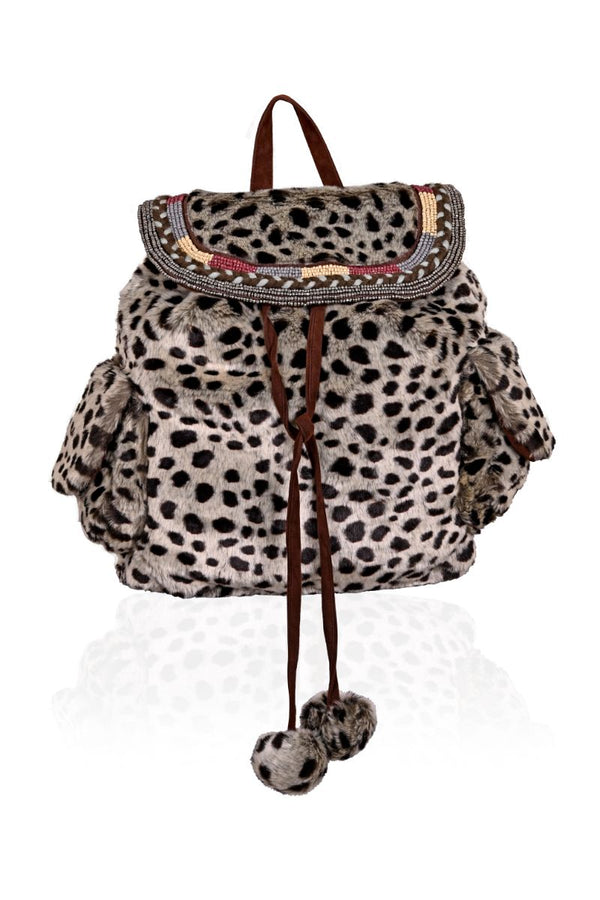 Faux Fur Wild Cheetah Back Pack