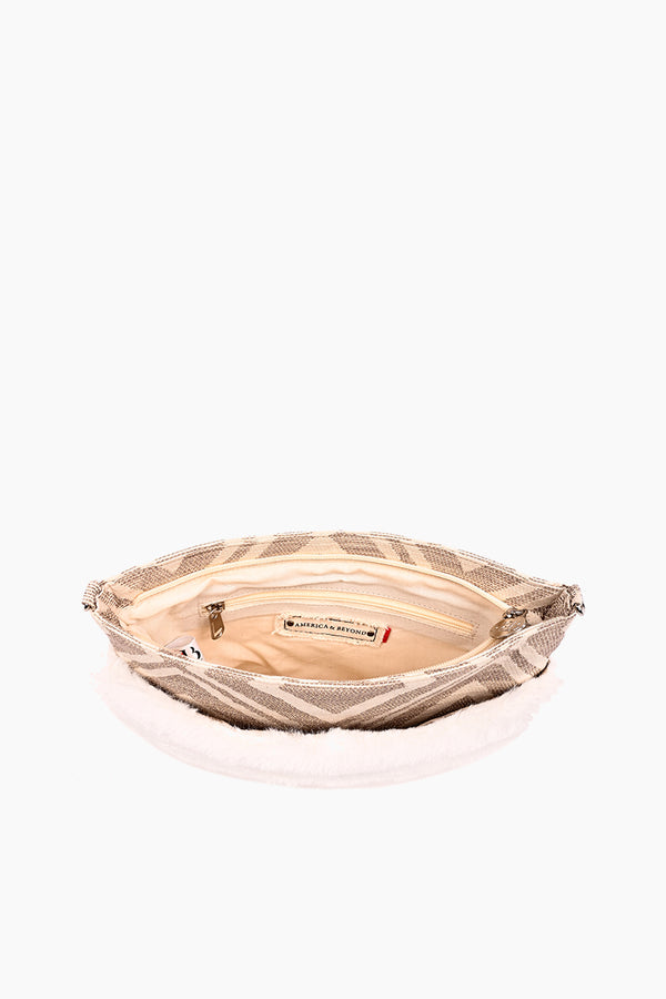 Snow White Faux Fur Hand Warmer Clutch