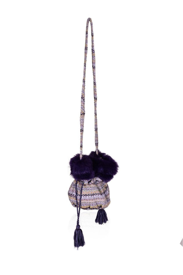 Sugar Plum Faux Fur Bucket Bag
