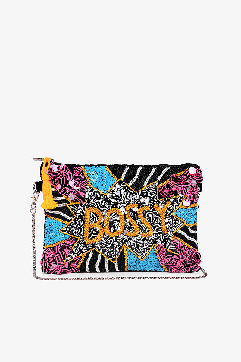 Bossy  Embellished Clutch