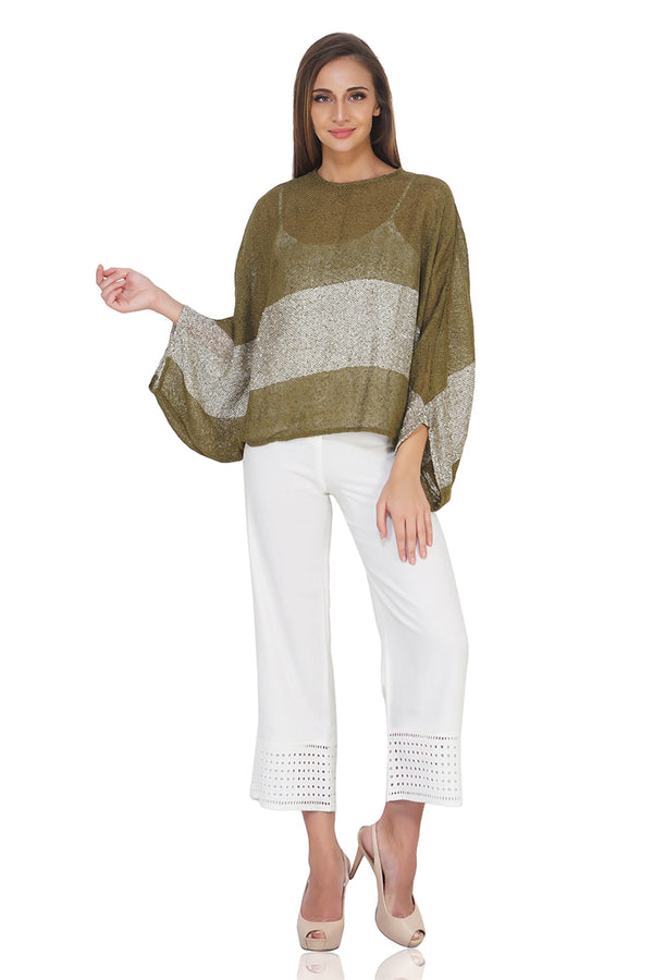 Olivine Boucle Oversized Top