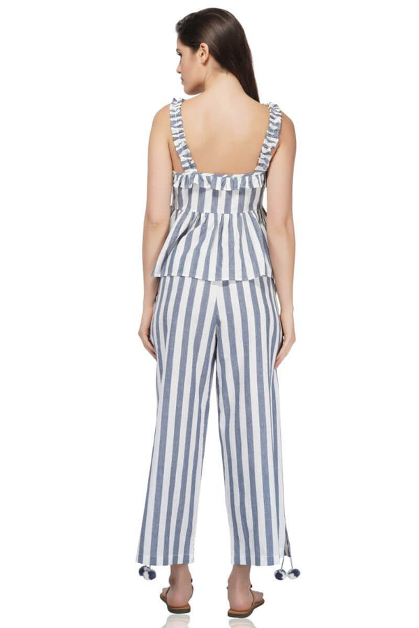 Manatee Striped Trousers