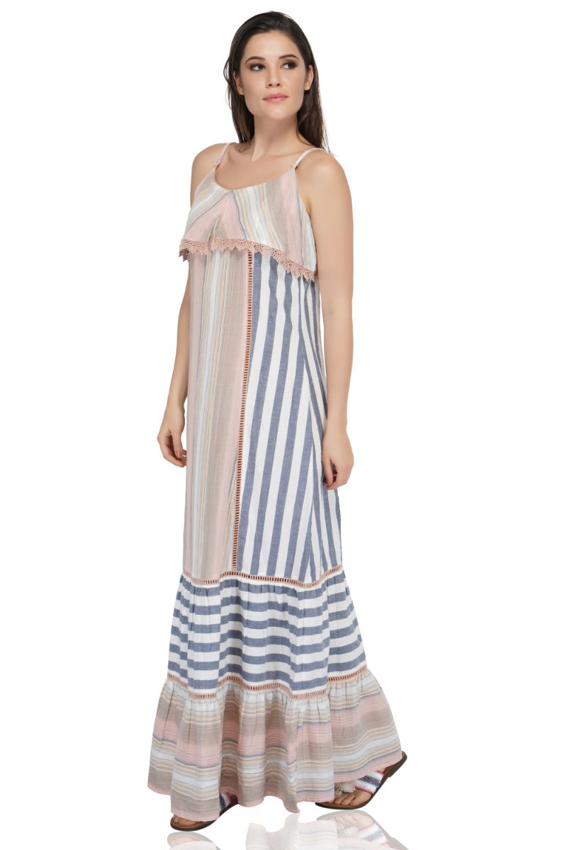 Contessa Striped Maxi Dress | Striped Boho Dresses