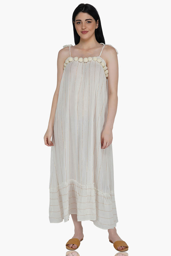 Grecian Glory White Maxi Dress
