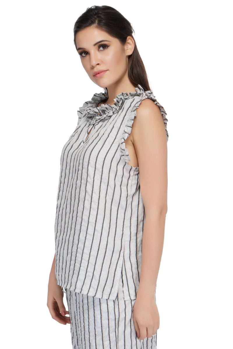 Outline Silver Top | Casual Bohemian Top