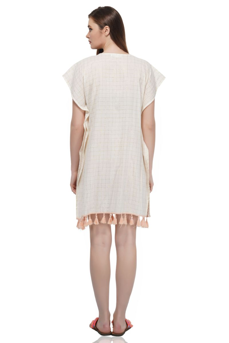 Zephyr Cross-Stitch Embroidered Tunic Dress