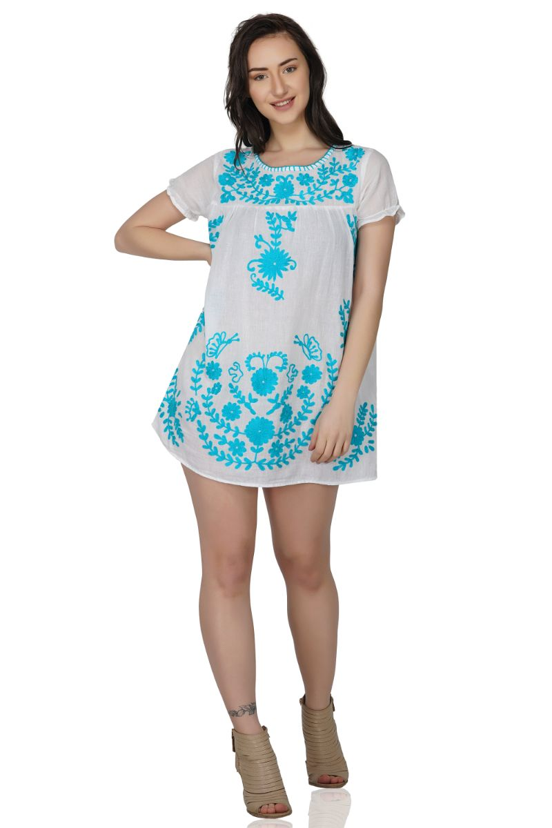 Mojo Embroidered Tunic Dress