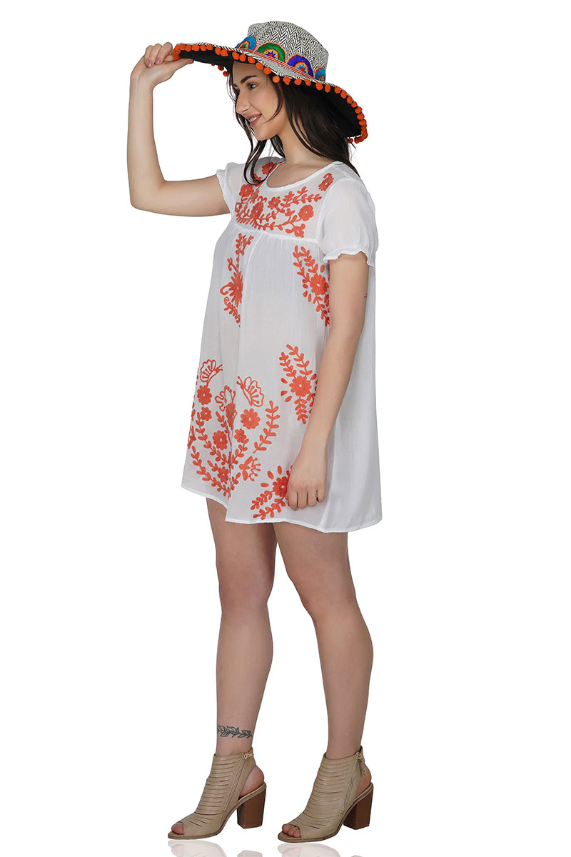 Indy Embroidered Tunic Dress