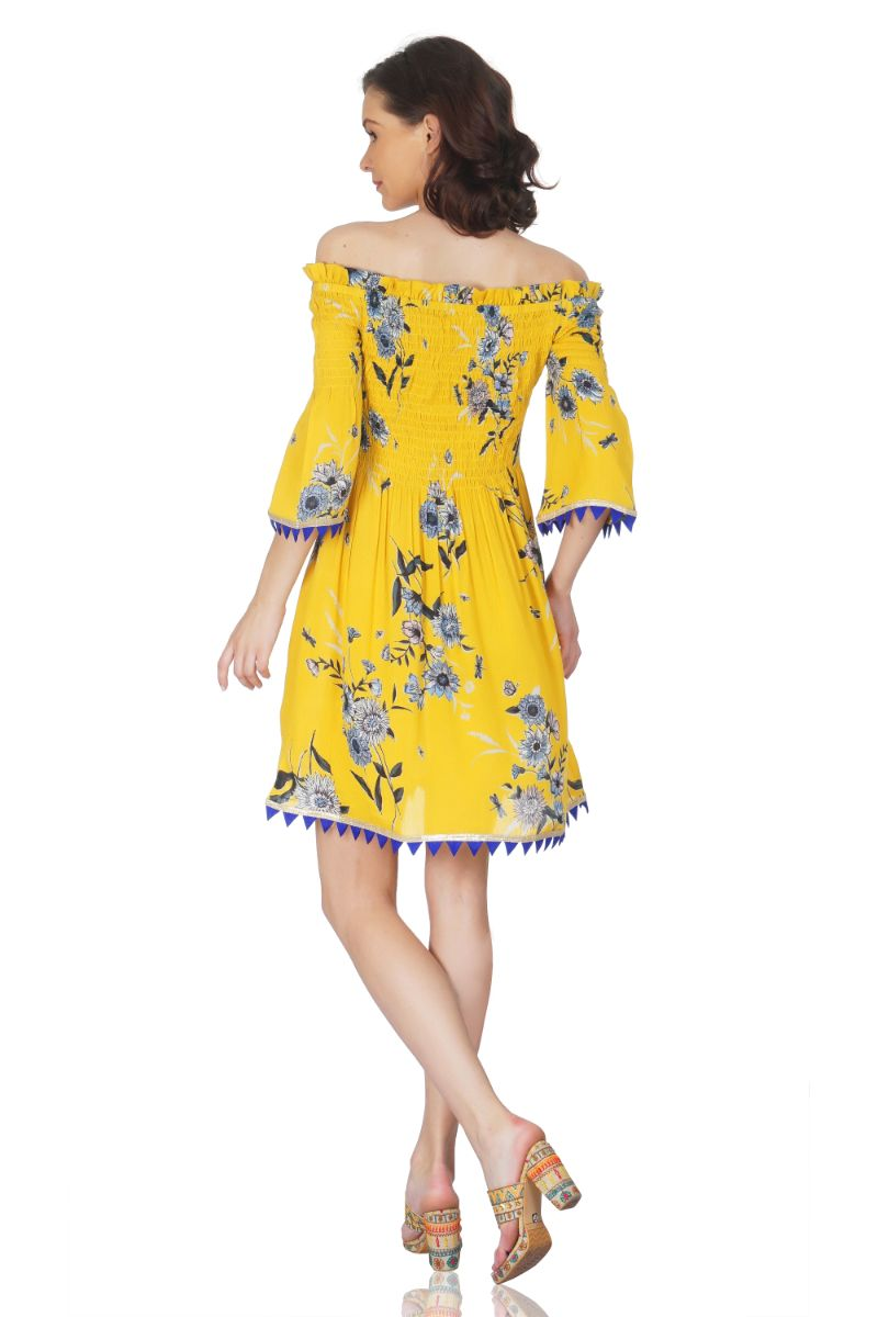 Freesia Off-Shoulder Dress