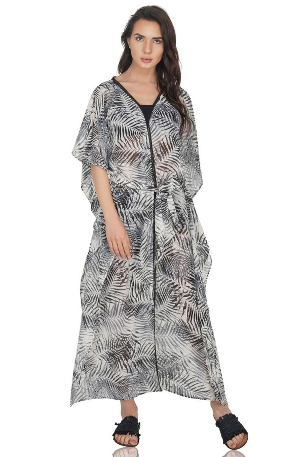 Jungle Nights Maxi Kimono Cover Up