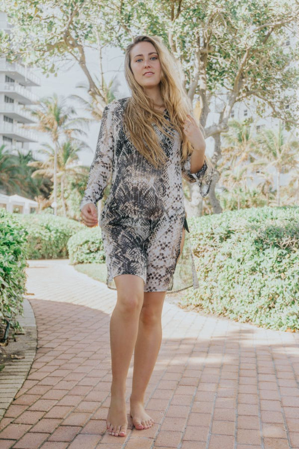The Audrey Snakeskin Tunic