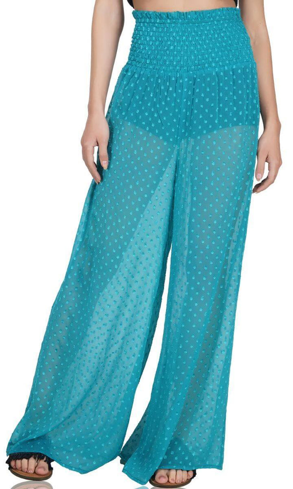 Peacock Teal Beach Pant