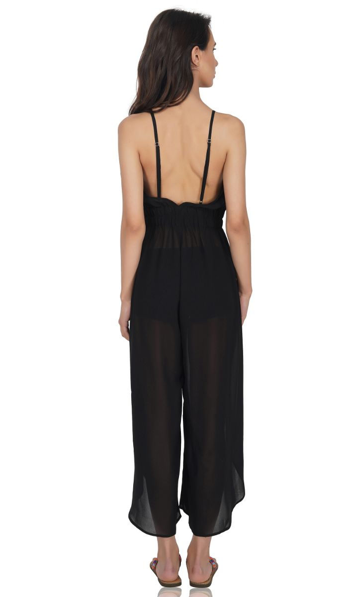 Sexy Sheer Black Jumpsuit