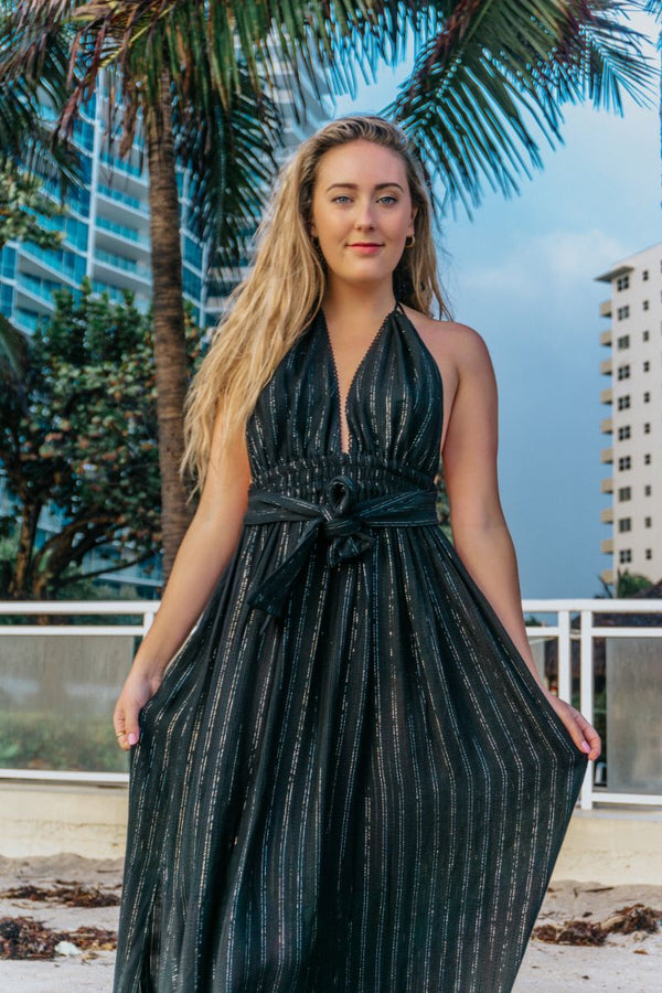 Noir Nights Maxi Dress