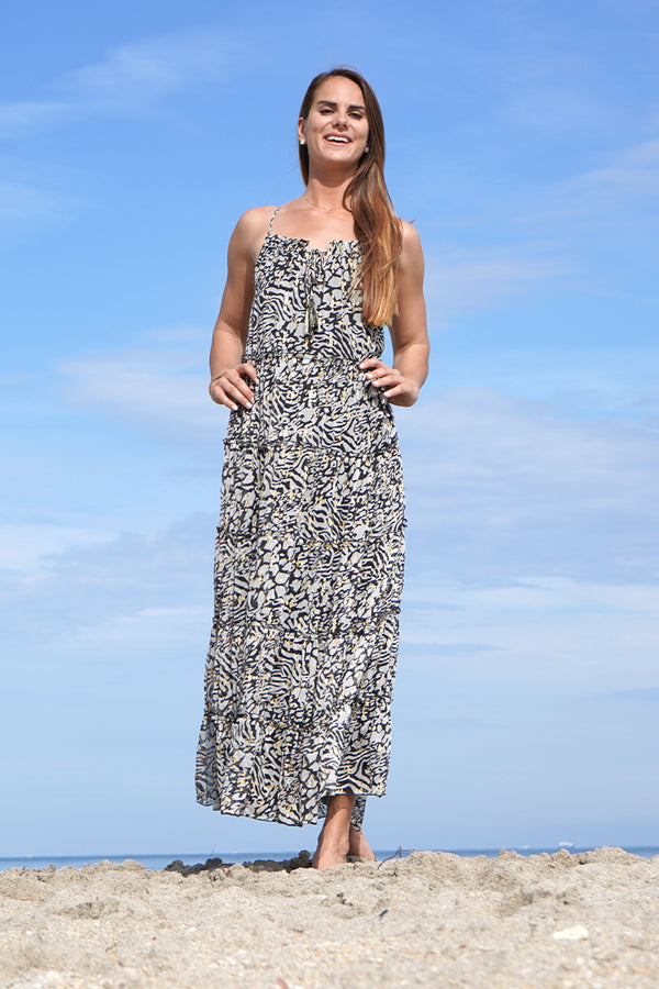 Always Animal Tierred Maxi Dress