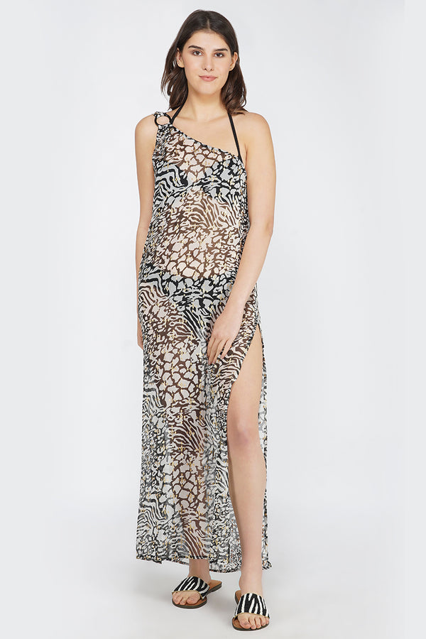 Always Animal Maxi Dress Cover Up