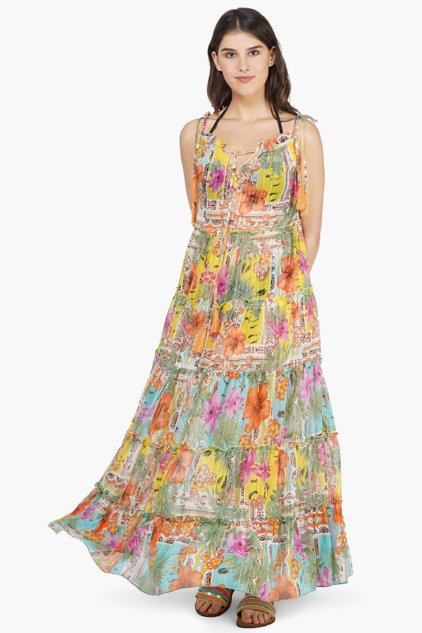 Boho Blissful Tiered Maxi Dress