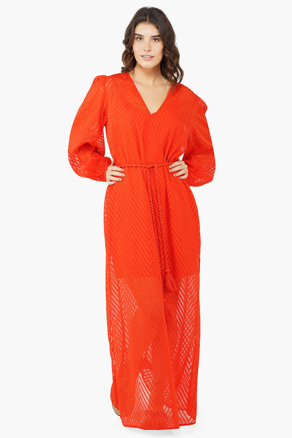 Red Carpet Ready Maxi Dress