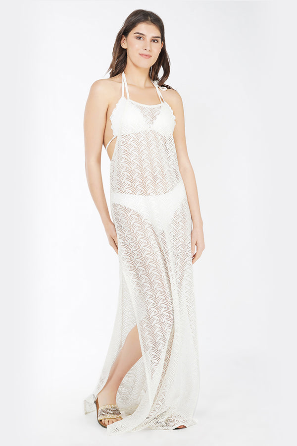 Classic Crochet Maxi Dress Cover Up