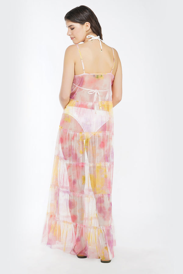 Totally Tie Dye Maxi Dress Cover Up