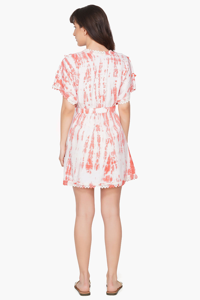 Strawberry Shake Pom Pom Mini Dress