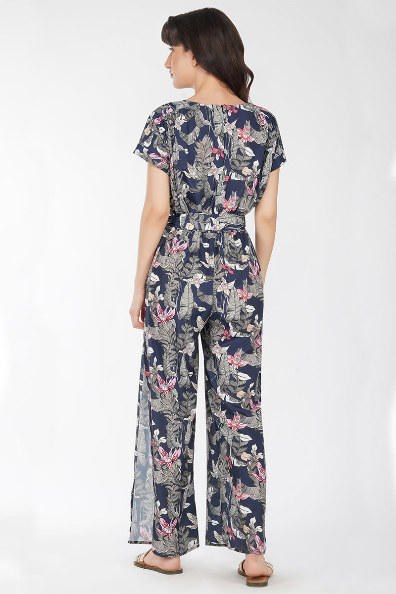 Maui Nights Leaf Jumpsuit