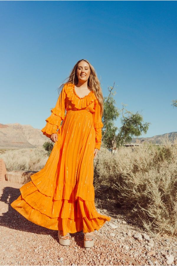Marigold Sun Maxi Dress