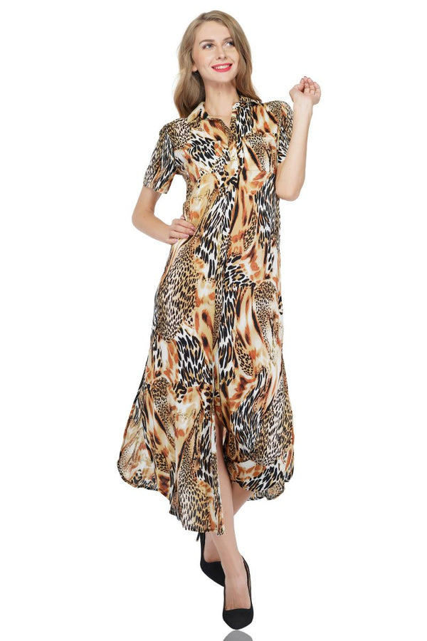 Wild Animal T- Shirt Dress
