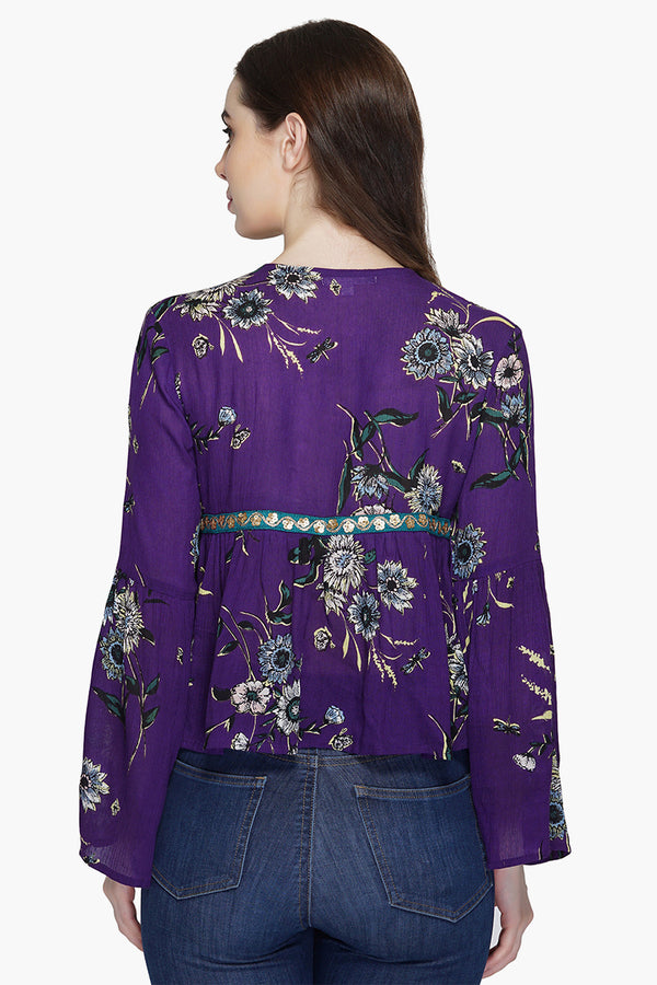 Purple Freesia Light Weight Jacket