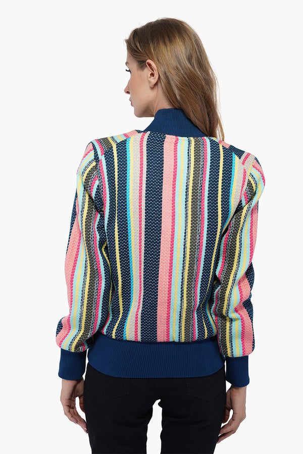 Cool Striped Bomber Jacket