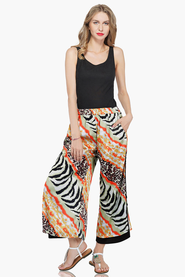 Absinthe Animal Print Lounge Pants | Printed Soft Boho Pants