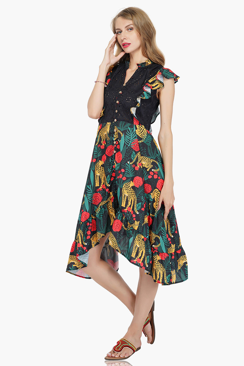 Jaguar Paradise High Low Dress
