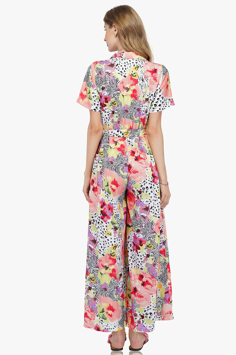 Azalea Floral Dotted Jumpsuit | America and beyond