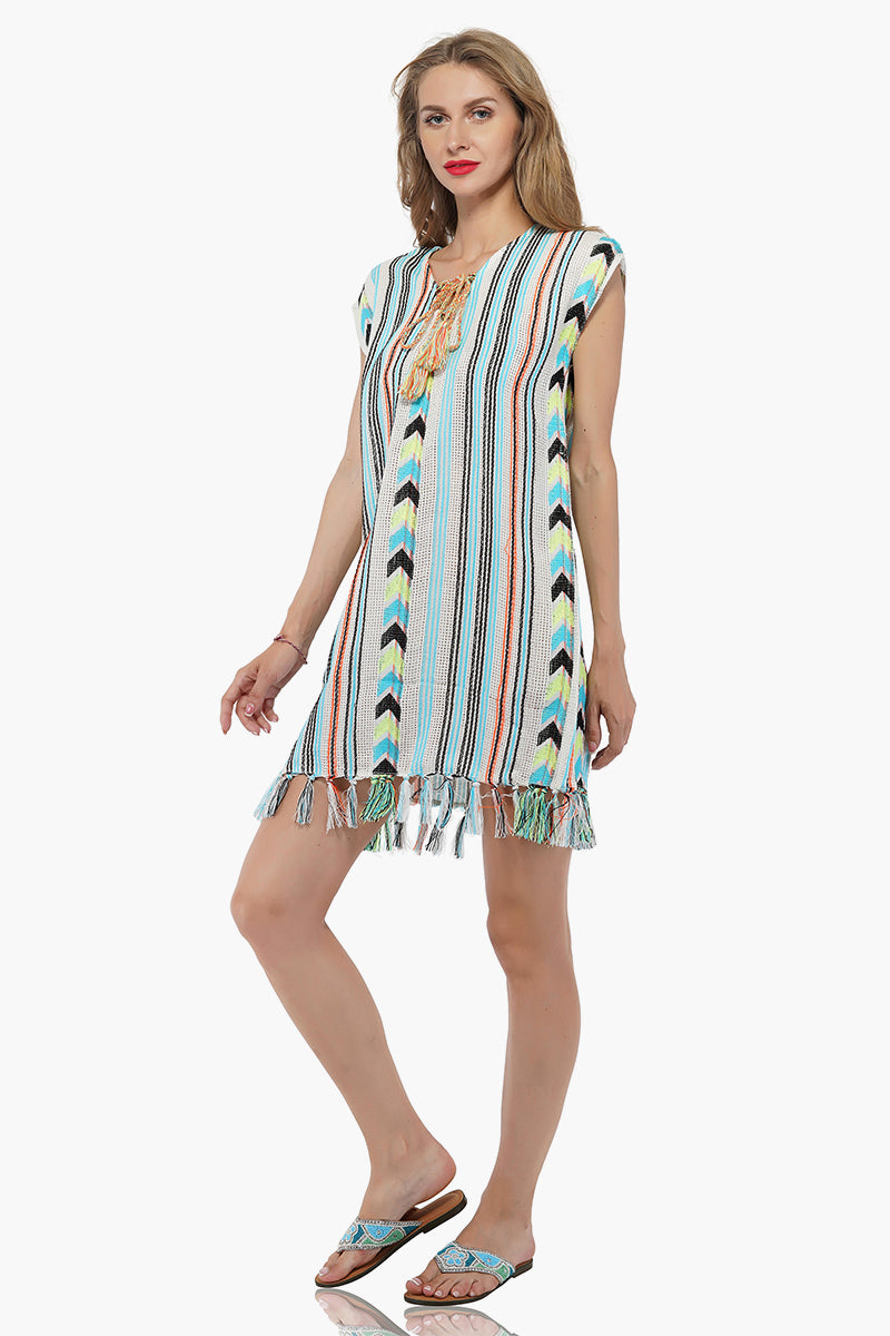 Aqua Haze Tunic Cover Up | Boho Chic Tunic Coverup