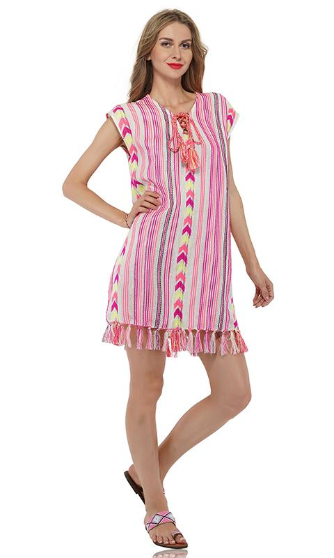 Begonia Pink Tunic Cover Up